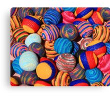 Knit Balls in Many Colors Canvas Print