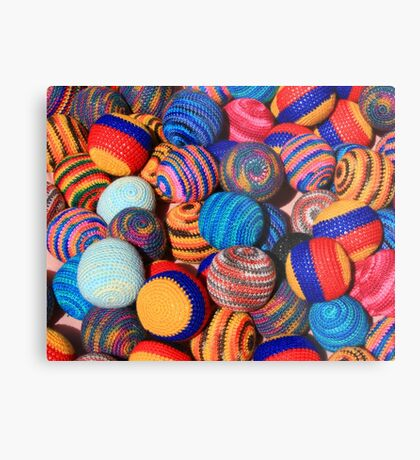 Knit Balls in Many Colors Metal Print