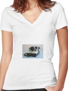 Old Camera Women's Fitted V-Neck T-Shirt