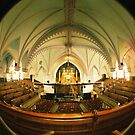 Interior church has Montreal, Quebec, Canada by Jean Beaudoin