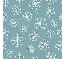 Winter Snowflakes - crisp, cool and pretty Photographic Print