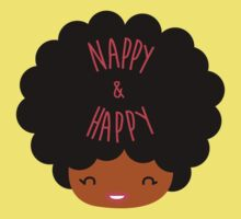 Happy Nappy Afro Kids Tee