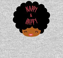 Happy Nappy Afro Womens Fitted T-Shirt