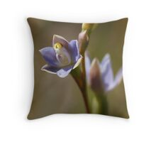 Forest Sun Orchid  (Thelymitra arenaria) Throw Pillow