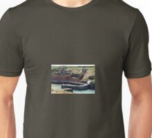 Hoppers and Crusher, Porthgain Harbour, Pembrokeshire Unisex T-Shirt