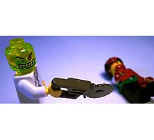 Doctor Toxic with Chainsaw, Custom Minifig Photographic Print