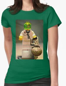 Doctor Toxic with Chainsaw, Custom Minifigure Womens Fitted T-Shirt