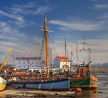 A bright winter's morning at Woodbridge by Aidan Semmens