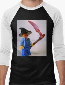 Scary Halloween Scarecrow Custom Minifigure Men's Baseball ¾ T-Shirt