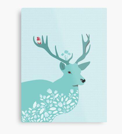 Blue Deer Metal Print