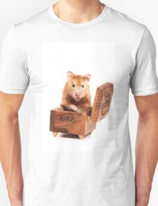 Hamster in a red box Unisex T-Shirt