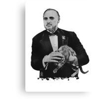 The Godfather with a cat Canvas Print