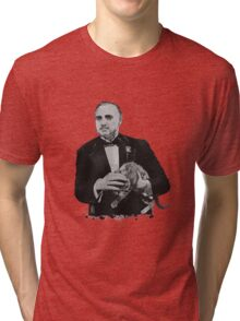 The Godfather with a cat Tri-blend T-Shirt