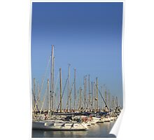 Yachts at Port Olimpic, Barcelona (Spain)  Poster
