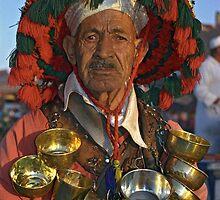 Portrait of Water-seller, Marrakech (Morocco)  by Petr Svarc