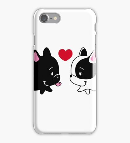 Frenchies in Love iPhone Case/Skin