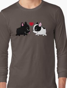 Frenchies in Love Long Sleeve T-Shirt