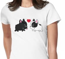 Frenchies in Love Womens Fitted T-Shirt
