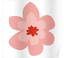 Pink Retro Flower Poster