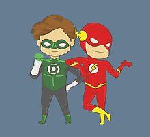 GL & The Flash by ireneaimee