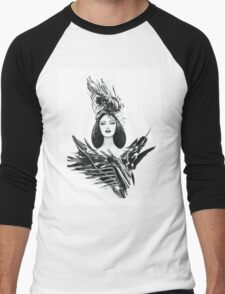 Fashion woman Men's Baseball ¾ T-Shirt