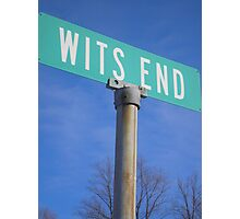 Wits End Photographic Print