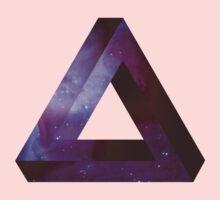 Infinite Penrose Triangle Galaxy Kids Tee