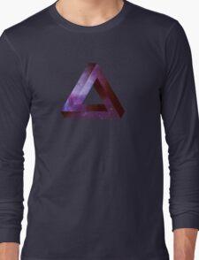 Infinite Penrose Triangle Galaxy Long Sleeve T-Shirt