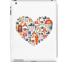Hiking and tourism love iPad Case/Skin
