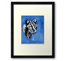 Black Wolf - Animal Art by Valentina Miletic Framed Print