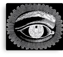 Black and White All Seeing Eye  Canvas Print