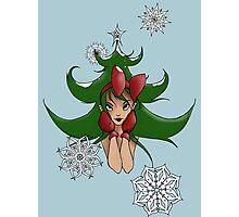 Snowflake: Christmas Tree Photographic Print