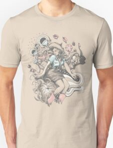 Cowgirl Drawing - Tattoo Style Unisex T-Shirt