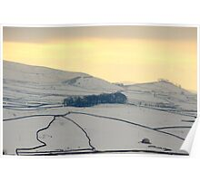 Dales in the snow Poster