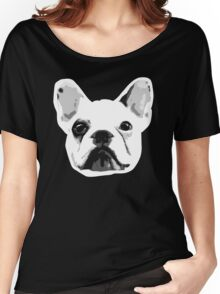 Frenchie Face Wrinkles :D Women's Relaxed Fit T-Shirt