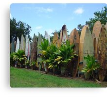 Surfboard Fence Canvas Print