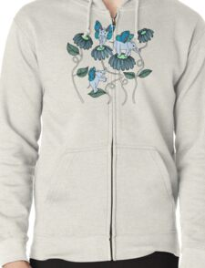 Look Out For Elephlies Zipped Hoodie