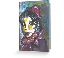 Annie Sees something in the Shadows....she feels good. Greeting Card