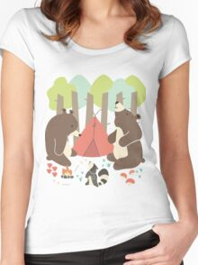 Bears of Summer Women's Fitted Scoop T-Shirt