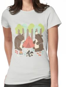 Bears of Summer Womens Fitted T-Shirt