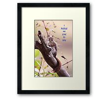 I Pledge my Love To You  Framed Print