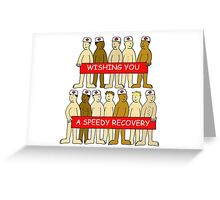 Wishing you a speedy recovery naked men in medical hats. Greeting Card