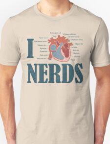 I HEART Nerds Unisex T-Shirt