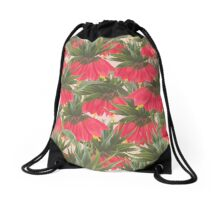 Tropical Flowers Drawstring Bag