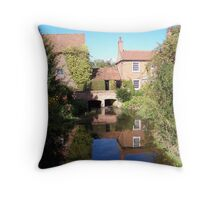 Reflection on a walk in Nottinghamshire Throw Pillow
