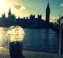 London - Big Ben (Starbucks) by TotoroXkawaii