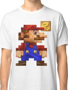 8-Bit Mario Realistic Classic T-Shirt