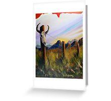 Western Landscape Greeting Card