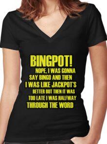 Binpot! Women's Fitted V-Neck T-Shirt