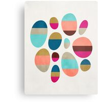 Color-Blocked Pebbles #1 Metal Print